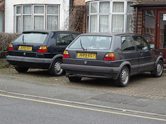 1991 Volkswagen Golf GTI & Golf Driver (Neil's classics) Tags: vehicle car 1991 volkswagen golf gti vw
