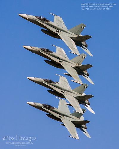 RAAF Hornets Amberley Airshow 2008