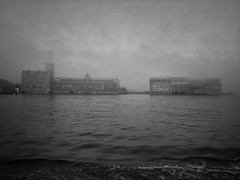 Amsterdam (puliMexNed) Tags: amsterdam blackwhite fog clouds water ij ferry