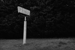 Scappoose, Oregon (austin granger) Tags: scappoose oregon motel sign florencepark font script broken decay abandoned time impermanence hedge evidence pole film gw690