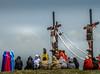 San Fernando crucifixion and flagellation processions-113 (walterkolkma) Tags: philippines pampanga sanfernando sanpedrocutud barangay crucifixion crucifiction jesus enactment good friday catholicism romans religious devout fanatic penitents cross nailing