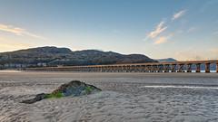 Barmouth Bridge (Ian JonesMorris) Tags: barmouth bridge beach rock pool train sunset sky sand