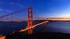 Golden Gate Bridge at Sunset (AkshayDeshpande) Tags: golden gate bridge san francisco california usa america architecture sunset canon t3i rebel colors sky blue water pacific coast long exposure bay dusk