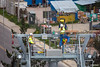 Entrega del cable guia. A la izquierda se puede observar al piloto... (Max Glaser) Tags: cablecar teleferico dron bolivia lapaz southamerica gondola ropeway urbantransport transportation