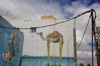 camel pueblo mural