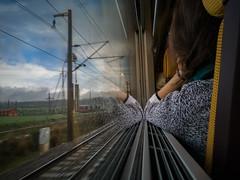 The lost gaze. La mirada perdida. (mabello_10) Tags: tren train ave sadness tristeza lonely day spain