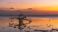 lowtide (Csaba Desvari) Tags: lowtide sunset reflections summer boat beach