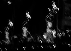 Ganga aarti | Varanasi | 2017. (Vijayaraj PS) Tags: nikon varanasi kasi india heritage hindu hinduism ganga ganges water river incredibleindia light outdoor ghats asia travel boat bird migration blackandwhite monochrome people white background grey grains 2017 gangaaarti
