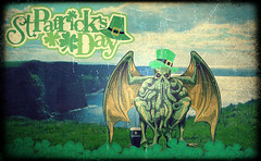 Cthulhu Wishes you all a Magical Day! (v NaTaS v) Tags: cthulhu st saint patrick patricks guinness clover 4leaf ireland irish green