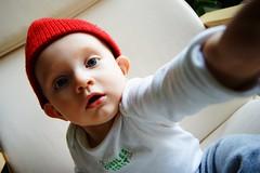 DSC02556 (nikonrobi) Tags: boy baby red hut chair zsombor 9 months interesting sony a7ii sigma 1530 fullframe colors indoor