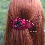Bordo flower hair barrette thumbnail