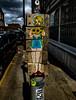 Shine Your Light on Me (Steve Taylor (Photography)) Tags: fishnet stockings maid blonde bouquet bricklane pencil hnrx creativedeb sunny sunshine summer stormy turn twist grain art graffiti streetart sticker