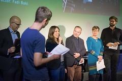 MANIVELLE Produzentin Bernadette Klausberger nimmt den Canis-Preis entgegen
