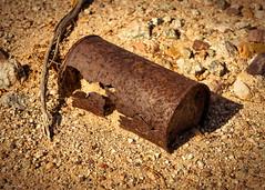 Desert Survivor (59roadking - Jim Johnston) Tags: ifttt 500px soil rusty worn dirt used weathered damaged iron stone can desert death valley