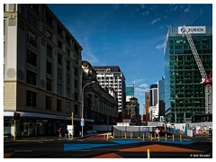 Business District Early Morning (PEN-F_Fan) Tags: northisland newzealand mirrorless people olympuspenf microfourthirds m43 mzuiko12100mmf40pro mft machine photoborder street sky sidewalk zurichhouse walkway route postprocessing photoframe photoedge queenstreet publictransit intersection britomarttransportcentre building australiaandoceania alienskin alienskinexposure architecture dxoviewpoint exposurex3 dxophotolab clouds constructioncrane deloittecenter auckland