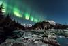 Emerald curtain (Traylor Photography) Tags: alaska hdr focusstack birdcreek march reflection sewardhighway northernlight portrait auroraborealis anchorage unitedstates us