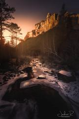 Ordesa Valley, Spain (jesbert) Tags: ordesa valley valle españa spain nieve snow atardecer sunset trees árboles agua water rio river montaña mountain sony a7rii carl zeiss