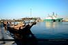 An Afternoon Sight @ RAK 01 (Gabby Canonizado 02 (New account)) Tags: rasalkhaimahuae rasalkhaimah uae unitedarabemirates boat dhow fishingboat bluewaters
