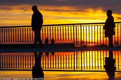 Si em dius adeu... (J.Pineda66) Tags: sunrise sunshine sunset barcelona couple dawn mediterranean sea reflection charco d90 cosina100mmf35 sunny spring