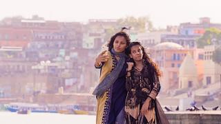 Selfie on ghats ...Varanasi .India