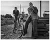 Stixa and Michael (AEChown) Tags: fishermen fishermensmuseum hastings thestade smoking fishingboats bicycle