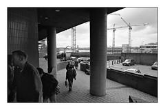 Rebuilding Birmingham (david.hayes77) Tags: birmingham 1998 kodak t400cn blackandwhite monochrome bw film people humanity brummies bullringshoppingcentre thebullring westmidlands urban nikonf70