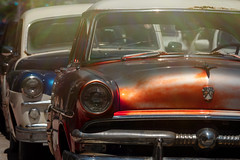 Dodge behind Ford (SteveMcD) Tags: oldcar rust grill flare lightroom alienskin antiquecars microfourthirds gh5 cars dodge ford chrome headlight