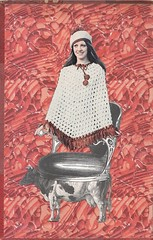 April 19th 2018 - for losdiascontados.com (kurberry) Tags: collage collageaday cutpaste analoguecollage analogcollage vintageephemera red cow chair poncho losdiascontados