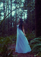 (Wendy Lu.) Tags: wendylu canon5d fantasy woods walking gown princess royalty night nightelf evening magical forest beautiful girl woman female portrait long hair flowy dress brunette dreamy hopeful ethereal wander wanderer