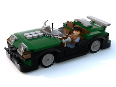 Cameron Eliot speeder.lxf (Brick picker) Tags: vintage green figurinescale figure dom black lego bois wood captain daniel moc ideas afol car speeder speed race special agent