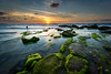 Palmachim Beach at Sunset IX (stollman_ron) Tags: seascape travel nikon d600 sea sky clouds longexposure israel rocks
