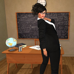 Teacher, Teacher (Fye Miles (Second Life)) Tags: secondlife sl sexy secondlifefun slphotography secondlifephotography avatar avi fye teacher sexyteacher virtualworlds virtualworld brunette backdropcity addams