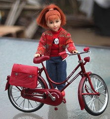 Birthday Bike (tamsykens1) Tags: miniature bike bicycle 16 scale accessories tammy world fern when i read dream doll red hair
