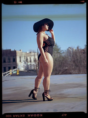 Nicole (Film..Grain) Tags: pentax645 filmisnotdead film mediumformat kodak ektar portrait brunette asian newyork nyc fun photoshoot photography epsonv500 v500