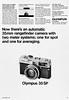 "Olympus 35SP camera advertisement. (Jerry Vacl) Tags: advertisement bw rangefinder olympus35sp camera 1969september""popularphotography""magazine nikond7200 micronikkor40mmf28gdx photomagazine"