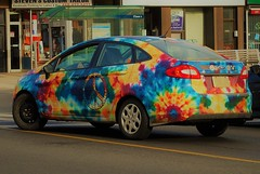 jerry garcia ... (s i l e n t p i c t u r e s) Tags: 2012 fordfiesta sedan tiedyed adwrapped oconnordrive toronto