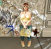 I <3 Unicorns (Serena Reins) Tags: confession pose poses pictures pic secondlife catwa uma maitreya tentacio unicorn sunglasses sneakers purse graffiti backdrop minimal jeans crop top wings
