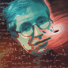 11 / 52 : 5 (Randomographer) Tags: 52weeks abstract portrait digital art icon writer human memorial graphic design people stephen william hawking english theoretical physicist cosmologist author science blackhole quantum mechanics man