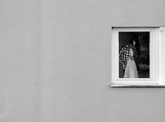 Arrangement (A. Yousuf Kurniawan) Tags: blackandwhite window building monochrome minimalism minimalist people decisivemoment architecture urbanlife streetphotography composition
