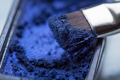 eye shadow (Sabinche) Tags: macromondays blue brush macro olympus sabinche