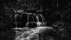 Small waterfall (InfiniteEntropy) Tags: water waterfall bw longexposure nature hollyhill