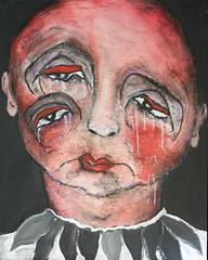 Todo lo erroneo (Pedro Mainman) Tags: expressionism art painting canvas acrylic outsiderart artbrut rawart woman figure portrait men clowns women surrealism