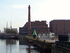 The Pump House, Liverpool, England (teresue) Tags: 2017 uk unitedkingdom greatbritain england merseyside liverpool albertdock pumphouse canningdock gradeiilisted victorian