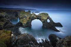 Gatklettur II (FredConcha) Tags: gatklettur iceland rocks arch fredconcha nature landscape lee longexposure sea cliffs volcanic touristic place nikon 8000 d800