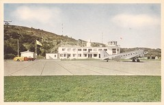 GOTtorslanda01 (By Air, Land and Sea) Tags: airport postcard got goteborg gothenburg sweden torslanda torslandaairport aircraft airplane dc3
