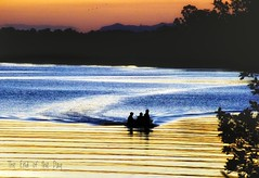 (philhancock) Tags: fishing peaceful serenity night nsw manning taree australia olympus river silhouette boat water sunset