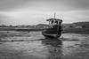 Lonely Boat (***tuttifrutti***) Tags: canon canon5d canon5dm3 canon5dmkiii canonlenses canon2470mm canon2470mmf28 canon2470mmf28l canon2470mmf28lmkii stones chains boat harbour blackandwhite blackwhite bw