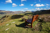 Bench View (Howie Mudge LRPS BPE1*) Tags: sky bluesky clouds bright sunny day outside outdoors greatoutdoors landscape nature ngc nationalgeographic gwynedd wales cymru uk views scene scenery scenic vista travel bench grass bracken fields hills mountains light shade shadows sony sonya7ii sonyalphagang sigmamc11adapter canon canon1740mmf4l seat sonyilce7m2