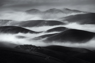 Mono Rolling Hill with low fog