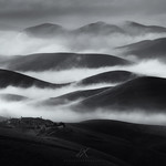 Mono Rolling Hill with low fog thumbnail